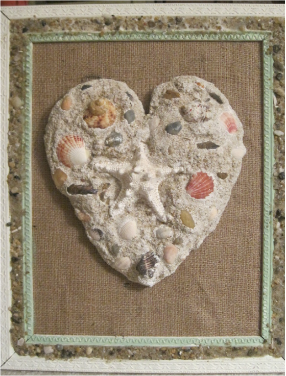 Amazing plaster sand cast heart! tutorial! www.shellcrafter.com