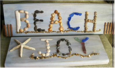 Beautiful beach signs at www.shellcrafter.com