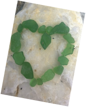 Awesome seaglass heart! www.shellcrafter.com